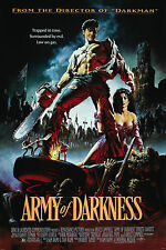 "ARMY OF DARKNESS Fabric Movie Poster 24""x36"" EVIL DEAD 3 Ash Necronomicon Horror"