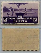 ERITREA - 1933 - 35 cent soggetti africani (208) - MH
