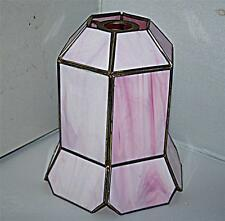 STUNNING VINTAGE RETRO PINK LIGHT SHADE 16cm WIDE 19cm HIGH TIFFANY ?