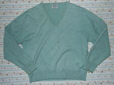 100% CASHMERE JUMPER by ELGIN. SEA GREEN. BUST 41 INCH / LENGTH 22 INCH.