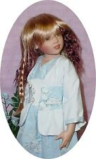 """Doll Wig 7/8"""" fits 16"""" Kish and others, Strawberry Rainbow, Synthic Mohair"""