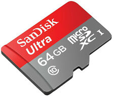 SanDisk Ultra 64GB  Micro SDXC UHS-I Class10 80MB/s Card with Adapter 64 GB
