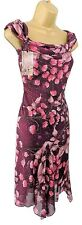 M&Co ladies dress size 8 petite glitter encrusted rose evening cocktail wedding