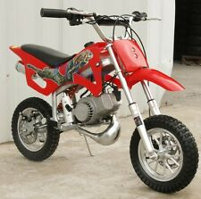 FREE SHIPPING KIDS 49CC 2-STROKE MOTOR MINI BIKE DIRT POCKET BIKE RED H DB49A