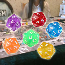 6pcs/Set Games Multi Sides Dice D20 Gaming Dices Game Playing Mixed Color#D