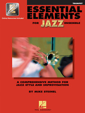 """""""ESSENTIAL ELEMENTS FOR JAZZ ENSEMBLE""""-TRUMPET MUSIC BOOK W/ONLINE ACCESS NEW!!"""