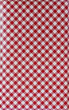 Elrene Red Gingham Vinyl Flannel Tablecloth 52 x 70 Oblong