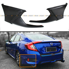 2016-2017 HONDA CIVIC X 2PC JDM ADD-ON REAR BUMPER SIDE SPLITTERS APRON VALANCE