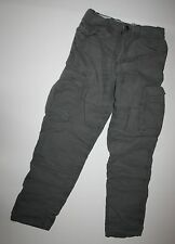 New H&M LOGG Label of Graded Goods Gray Lined Cargo Pants Size 8 9 Year NWT