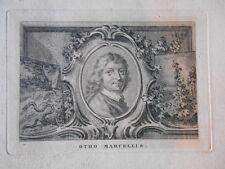 Gravure  XVIIIème -Portrait de Otho Marcellis - 1760 -