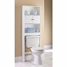 Bathroom Storage Cabinet Over Toilet Space Shelf Bathroom Vanities Wood White