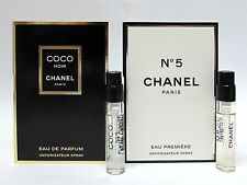 Chanel Coco Noir & No. 5 Eau Premiere for Women .06 oz 2 ml Sprays New 2 PCS