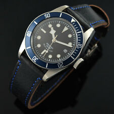 41mm Corgeut Black dial Miyota blue bezel Sapphire Glass Automatic Men Watch 005