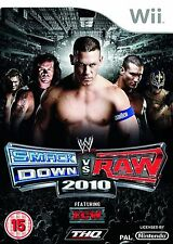 WWE Smackdown Vs Raw 2010 Nintendo Wii PAL UK **FREE UK DELIVERY!!**