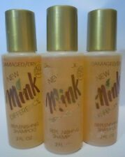 Mink Difference Shampoo Dry Damaged Hair 2 oz Each Lot of 3 Vintage 80s NOS