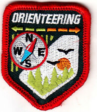 """""""ORIENTEERING"""" w/COMPASS-IRON ON EMBROIDERED PATCH/Hobby,Compass,Camping, Hike"""