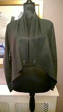 WAREHOUSE 12 100% Leather Soft Unlined Raw Edged Cropped Waterfall Blazer Jacket