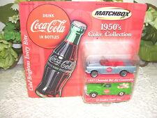 MATCHBOX COCA COLA CHEVROLET CONVERTIBLE & PANEL VAN 2 PC SET NIP MATTEL 2000