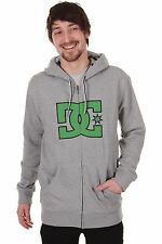 OFFICIAL MENS DC ZIP UP HOODIE KOWASKI HEATHER KELLY GREEN SIZE SMALL