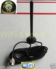 Dual Band 3dBi TNC MALE GSM GPRS HIGH Gain Signal Booster Antenna RG174 9' Cable