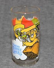 The Great Mupper Caper McDonalds Kermit the Frog Fozzy Bear and Gonzo GLASS 1981
