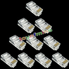 10pcs RJ45 CAT6 Modular LAN Ethernet plug in oro placcato connettore di rete