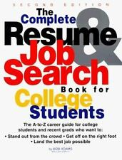 The Complete Resume & Job Search For College Students Adams, Robert Lang, Morin