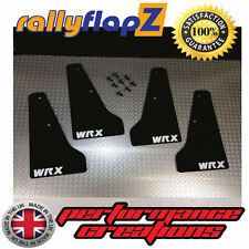 miniflapZ SUBARU IMPREZA (01-07) Splash Guards Qty4 Black (White WRX) 3mm PVC