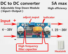 Adjustable Buck Power Converter Step-down Board Voltage Regulator 3.3v 5v 12v 5A