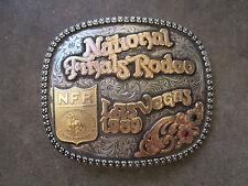 vintage 1989 National Finals Rodeo NFR championship cowboy sterling belt buckle