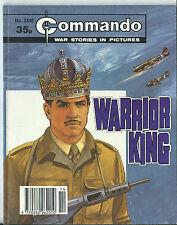 WARRIOR KING,COMMANDO WAR STORIES IN PICTURES,NO.2448,WAR COMIC,1990