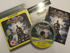 PAL PLAYSTATION 3 PS3 GAME BATMAN ARKHAM ASYLUM +BOX INSTRUCTIONS / COMPLETE