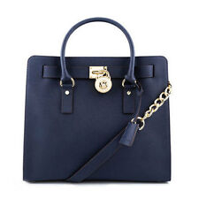 Michael Kors Bag 30S2GHMT3L MK Hamilton  Large Leather NS Tote Navy #COD Paypal