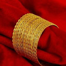 Goldplated Bangles Traditional Indian Bracelets Women Fashion Party Wristlet 2*8