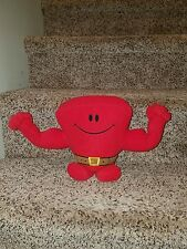 """FISHER PRICE TALKING MR MUSCLE PLUSH STUFFED RED EXERCISE 9"""" works! talks! exc"""