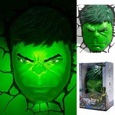 Top Marvel Avengers HULK Head 3D Deco Wandleuchten Raum LED Nachtlampe Lampe