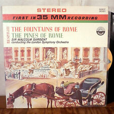 Sir Malcolm Sargent Fountains Pines of Rome LP Everest 35mm stereo AUDIOPHILE M-