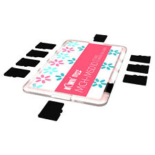 KIWI Ultra Slim Memory Card Holder Storage Protector Fits10 Micro SD Cards Pink