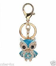Fashion Rhinestone Cute Owl Purse Handbag Car Charms Key Chain Key Ring