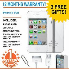 Apple iPhone 4 8GB EE Orange T-Mobile Virgin Mobile Smart Phone White