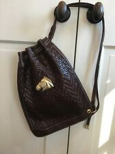 Barry Kieselstein-Cord Satchel Bucket Bag Equestrian Horse Woven Leather NEW