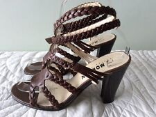 MORGAN DE TOI real leather  brown gladiator style ankle strap shoe size 5/38