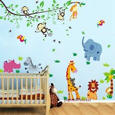 Design F - Giraffe/Monkey/Bear/Zebra/Baby/Kid Nursery Wall Sticker Decal