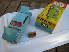 CORGI 238 JAGUAR MK 10 ORIGINAL  PLAYWORN PAINT IN ORIGINAL BOX MISSING ENDFLAP.