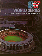 1967 WORLD SERIES PROGRAM PHOTO CARDINALS VS RED SOX 8x10