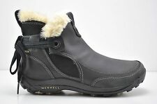Womens Merrell Misha Winter Waterproof Black Leather Boots Size 7 J55890