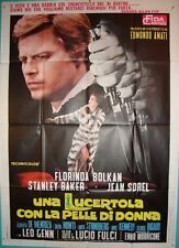 LIZARD IN A WOMAN'S SKIN Italian 2F movie poster 39x55 GIALLO FLORINDA BOLKAN