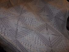 VINTAGE COTTON CROCHET BED COVER 120 INCH X 114