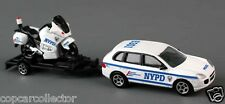 Daron Aprox 1/64 NYPD New York City Police SUV w/ Trailer & Motorcycle