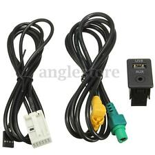 Aux in Switch w/ USB Wire Cable Adapter For BMW 3 5 series E87 E90 E91 E92 X5 X6